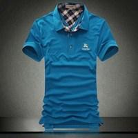 Men's short-sleeve T-shirt high quality short-sleeve slim turn-down collar t-shirt