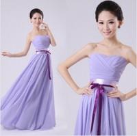 Free shipping bride toast purple bridesmaid dress evening dress long section temperament etiquette hosted performances