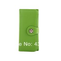 Hot sale:2014 women's Wallet long design flower zipper clutch bag