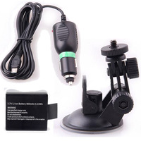 Free Shipping!Car Charger Mount Suction Cup Bracket for Action Camera Cam 3.7V Battery FOR SJ3000 SJ4000