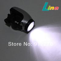 5pcs/lot Waterproof 5 LED Bike Bicycle Light Use Battery 3XAAA Silver