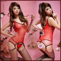 2014 new sexy lingerie for women,dew buttock red mesh underwear 8515 sexy open crotch bodysuit,body stockings