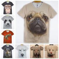 Two-side Factory SALE!! women/men leopard/lion skull/animal Funny 3D T shirt tee tiger/cat/dog/wolf 3d top tee M-XXL