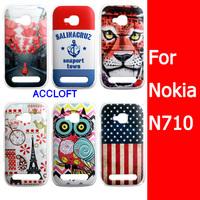 Free Shipping Magic Tiger Cute Cartoon Owl USA Flag Hard Plastic Phone Cover Case For Nokia 710 Case Nokia Lumia 710 Cover