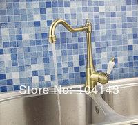 Hot Sale Competitive Price Single Handle Rubber Handle Antique Bronze Kitchen Tap Basin Sink Faucet 8414