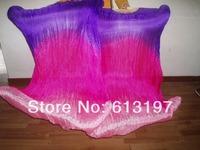 belly dance made 3color 100% silk fan veil /belly dance silk fan veil/ silk fan veil/10pcs/lot,free shipping
