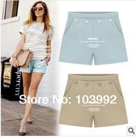 2014 summer women shorts four buckle chiffon fashion casual panties short pants female hot pants
