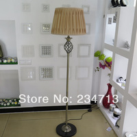 2014 Newest Design Antique Plating Iron Floor Lamps For Living Room Fabric Art Lampshade E27 Lamp Holder With Best Price