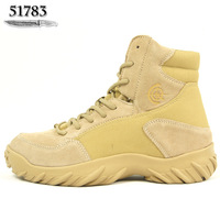 CQB tactical boots male low combat boots tactical marine boots sand color rubber sole genuine leather free shipping