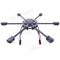HJ Glassy Carbon 6-Axis Folding Hexacopter Frame Kit w/Landing Gear