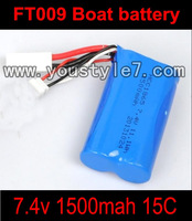 FT009 RC Boat FT009 7.4v 1500mah battery with box  Parts FT 009 Boat parts List