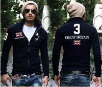2014 explosion models, free shipping, men's zipper jacket, embroidered LOGO, popular, warm, UK / USA