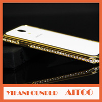 Galaxy Note 3 Bumper Diamond Luxury Gold Aluminum Metal Frame Case For Samsung Galaxy Note III N9000 N9005 with Retail Package