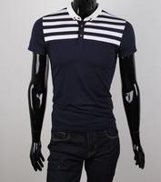 2014 new arrival men's Fashion t-shirts men's casual slim fit t-shirts five size M-XXXL free shipping  LD33
