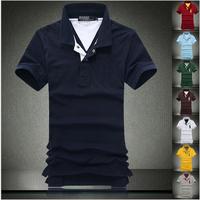 New 2014 Spring / summer Brand shirt Men polo shirt , Polo Men shirts ,100% Cotton Size Man plus size M L XL XXL Free Shipping