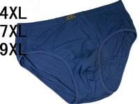 3pcs/lot Men's briefs shorts men underwear men underpants 95%bamboo fiber Solid underwear high quality 4XL,7XL,9XL Wholesales