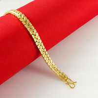 24K Gold Plated Bracelets,2014 New Fashion,24K Fastness Bracelet,Exquisite 24K Jewelry,Free Shipping,Wholesale C040