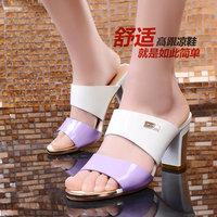2014 Summer Fashion shoes Elegant Fish head shoes women Slippers DunHu6663
