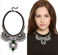 2014 new design fashion crystal rhinestone cat eye's stone choker statement necklace fox shaped for women