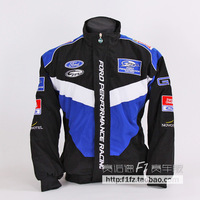 Free Shipping F1 automobile race clothing wrc work wear 14 FORD emblem winter wadded jacket full embroidery cotton-padded