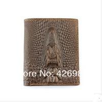 2014 Free shipping hot sale man wallet genuine leather purse wallets men crocodile wallet,1pce wholesale,quality guarantee.46