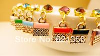 2014Korean Jewelry,Cute Handbag Plugs Jewelry,Earphone Accessories Jewelry,Oil Drip Dust Plug,20pcs/lot,Free Shipping,SL006