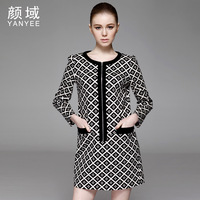 2014 spring women's high quality elegant ol elegant patchwork one-piece dress