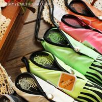 free shipping fashion zebra print anti-UV sun protection umbrella three foldingrain or shine amphibious umbrella