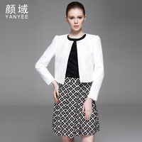 2014 women's spring intellectuality elegant design o-neck short lace coat