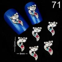 100Pcs Nail Art Accessories 3D Bow Tie Nail Art Decoration DIY Decoration Glitters Slices