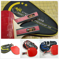 Free Shipping 2 star Ping Pong rackets PADDLE Pimples In pen-holding style handshake grip