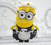 New Cartoon Waitress Minion USB flash drive High Quality Despicable Me Female Waitress model usb 2.0 memory flash stick 4-32gb