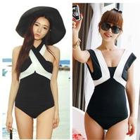 Free shipping sexy Korea Women swimwears 2014 spring fashion Push Up New one piece set Beach Wear swimsuit bathing suit outdoor
