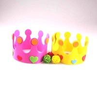 FREE SHIPPING Birthday hat party hats adult child princess hat party supplies eva birthday hair accessory adjustable size