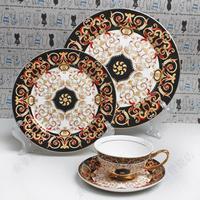 Fashion quality tableware dinnerware set decoration tableware royal tableware paragraph