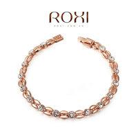 2060802490 Wholesale ROXI Fashion Accessories Jewelry Hearts and Arrows Full CZ Diamond Austria Crystal Wheat Bracelet for Women