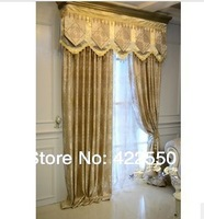 Ready-made curtains special European  minimalist living room  bedroom Damascus blackout fabric custom fabric curtains finished