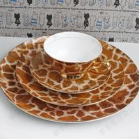 Free shipping, Western-style tableware dinnerware set gift set fashion bone china tableware