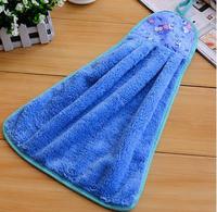 Beautiful household hanging style soft bibulous wipes kitchen hand towel