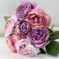 Alishan rose High Quality Silk Artificial Bride Hands Holding Rose Flower Bridal Bouquet Wedding 3 Colors Drop Shipping