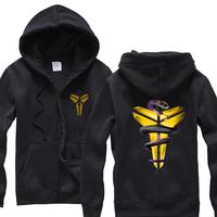 Men's Casual trigonometric scabbard black mamba fleece zipper Hooded Sweatshirt Hoodies Sweater Jackets Coats outerwear