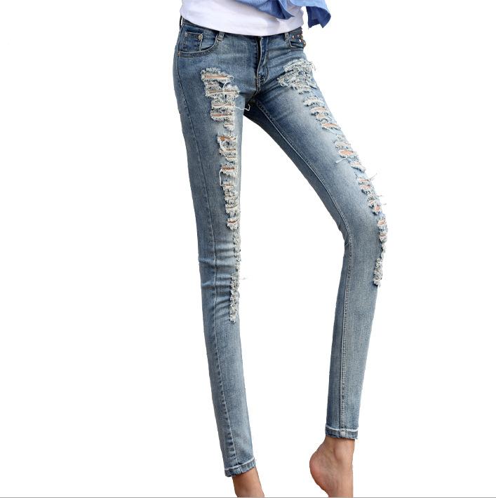 Amazing 2014 New Korean Fashion Pencil Jeans Women Denim Trousers Ladies Jeans