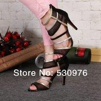 2014 fashion moier  brand high heel sandals wedge sheepskin sexy shoes free shipping