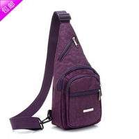 2014 New Direct Selling Freeshipping Nylon Zipper Cell Phone Pocket Solid Chest Pack Male Bag Women's One Shoulder Cross-body
