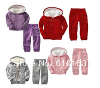 new 2014 children clothing sport suit for winter with retail Kids Clothes baby clothing new free shipping clothing set