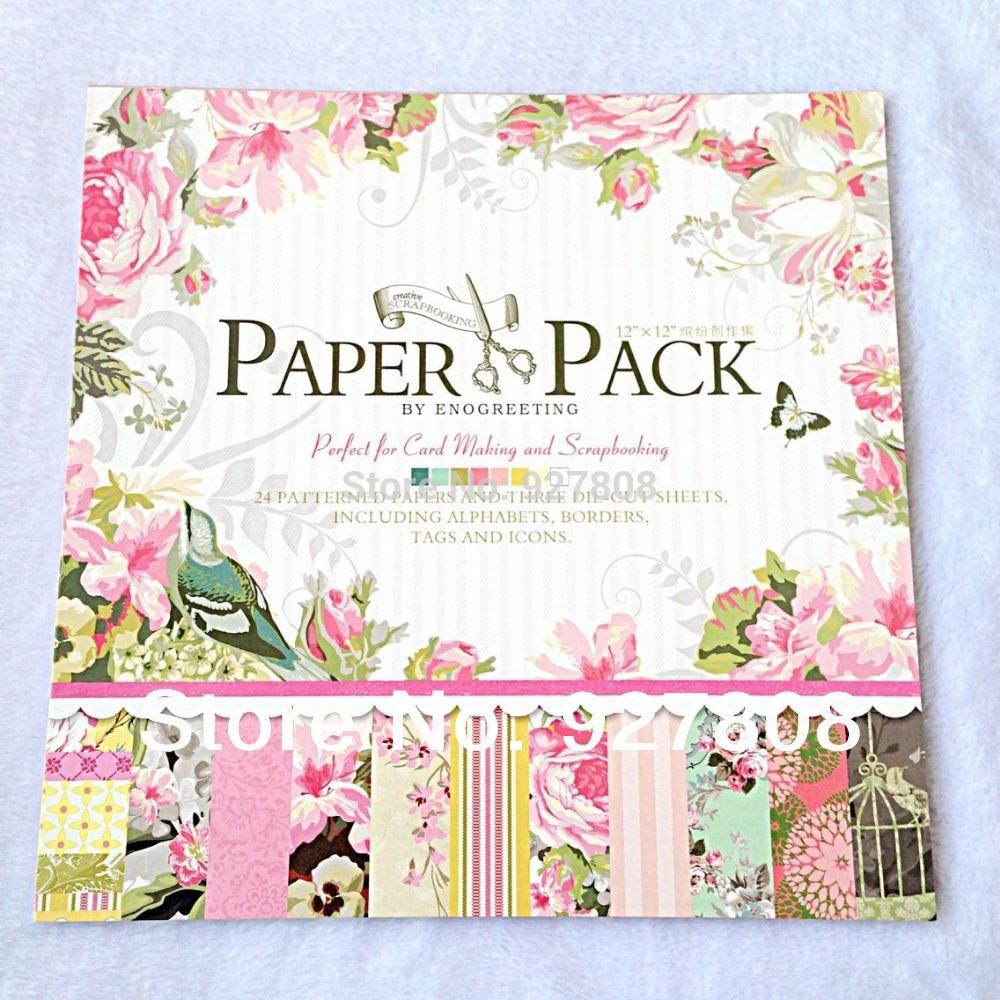 How to make scrapbook paper designs - 12 Inch Pattern Scrapbooking Paper Handmade Craft Paper Pack Diy Decoration Photo Album Birthday Card Making