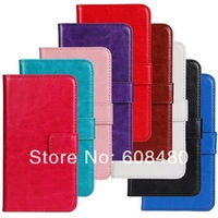 2000pcs/lot for new samsung galaxy S5 i9600 wallet PU leather case with stand and card slot