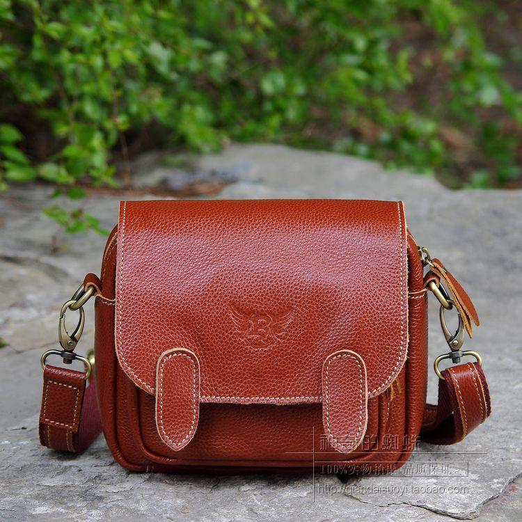 Bags 2014 women's messenger bag cowhide small bag casual all-match mini women's genuine leather handbag waist pack(China (Mainland))