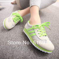 2014 New Syle women brand breathable mesh cloth shoes women runningshoes of size 35-39 free shopping