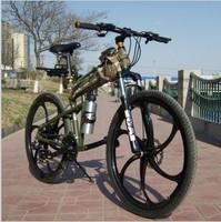 26 fashion folding mountain bike  off-road bicycle shock absorption car
